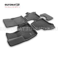 3D коврики Euromat3D EVA в салон для Mercedes G-Class (W463) (2018-) № EM3DEVA-003502G Серые