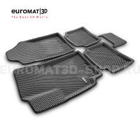 3D коврики Euromat3D EVA в салон для Kia Rio (2017-) № EM3DEVA-002931G Серые
