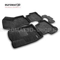 Текстильные 3D коврики Euromat3D Business в салон для Skoda Karoq (2020-) № EMC3D-004501G Серые