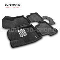 Текстильные 3D коврики Euromat3D Lux в салон для Skoda Karoq (2020-) № EM3D-004501G Серые