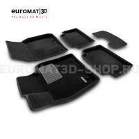 Текстильные 3D коврики Euromat3D Business в салон для MAZDA 3 (2019-) № EMC3D-003400
