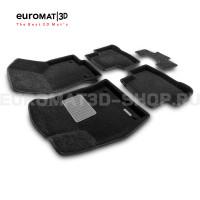 Текстильные 3D коврики Euromat3D Business в салон для Volkswagen Taos (2021-) № EMC3D-004501