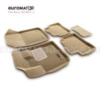 Текстильные 3D коврики Euromat3D Lux в салон для Geely Tugella FY11 (2020-) № EM3D-001408T Бежевые