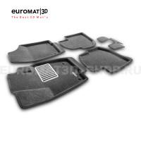 Текстильные 3D коврики Euromat3D Lux в салон для Skoda Rapid (2014-2019) № EM3D-004508G Серые