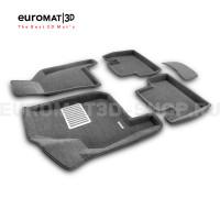 Текстильные 3D коврики Euromat3D Lux в салон для Lada Priora (2007-) № EM3D-005307G Серые